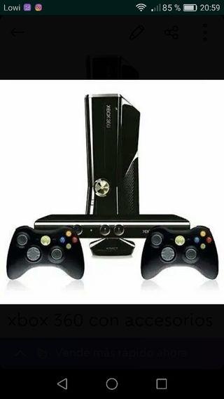 Xbox 360 con accesorios