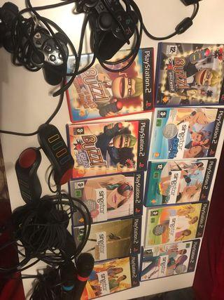 PS2 mini, Buzz/Singstar y TODOS los JUEGOS!!!