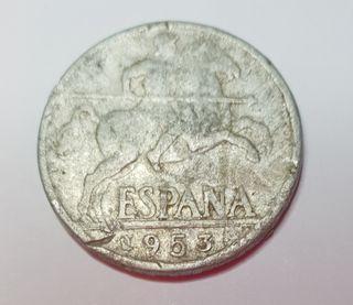 Moneda de 10 céntimos de 1953