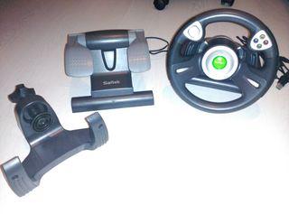 Volante + Pedales Saitek Xbox