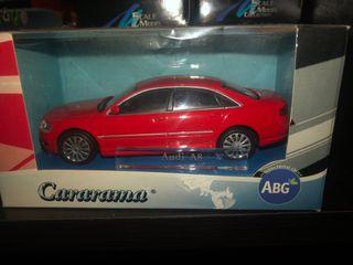 Maqueta Audi a8 rojo