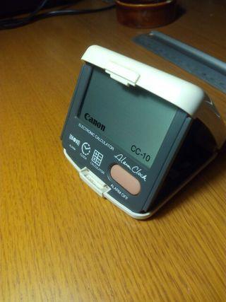Calculadora-despertador de viaje Canon