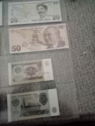 Billetes del mundo varios