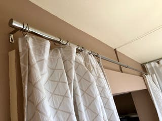 Barra cortinas acero + anillas