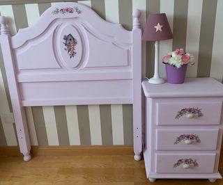 Dormitorio niña Shabby Chic artesanal.Único