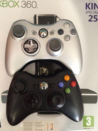 Mandos + dos juegos XBOX 360