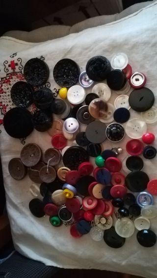 lote de 110 botones antiguos, vintage