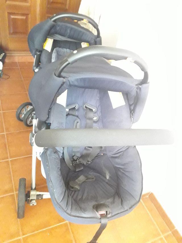 Carrito de bebé gemelar