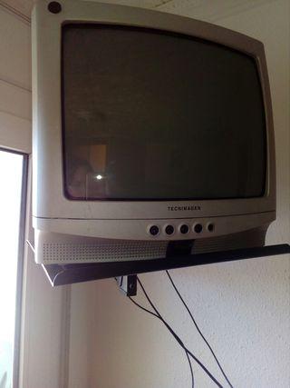 TV 14''+ soporte de pared giratorio
