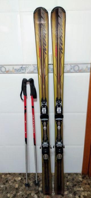 Esquís + bastones
