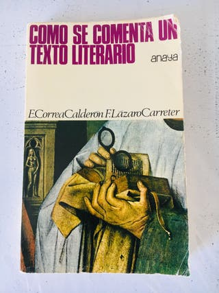 Libro: Cómo se comenta un texto literario.