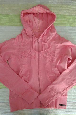 Sudadera para mujer rosa de segunda mano en WALLAPOP c1d17563dba