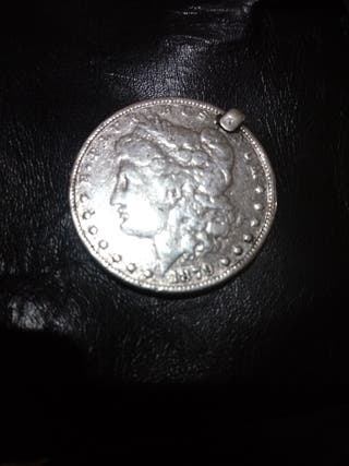 moneda one dollar plata 1879