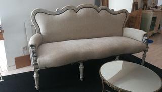 Sofá clásico, canapé francés.