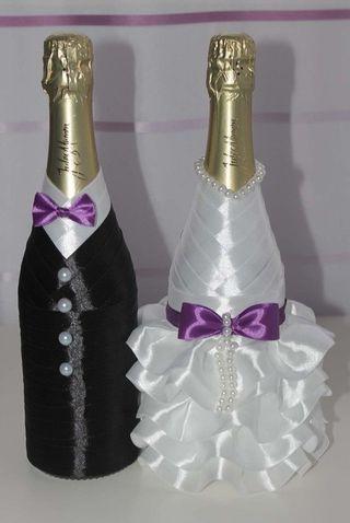 Botellas y copas decoradas