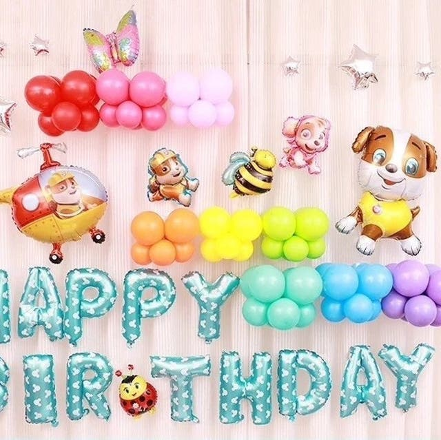 MINI DOG HAPPY BIRTHDAY BALLOON SET