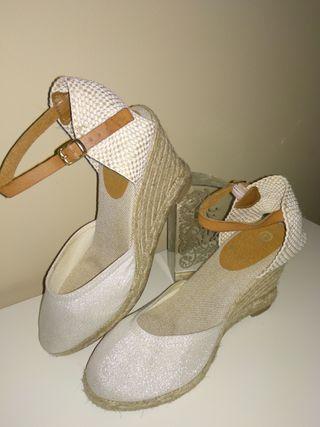 Zapatos novia seminuevas n°38