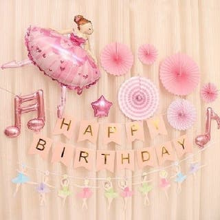 BALLET GIRL HAPPY BIRTHDAY BALLOON SET
