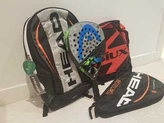 Pack pala padel + mochilas