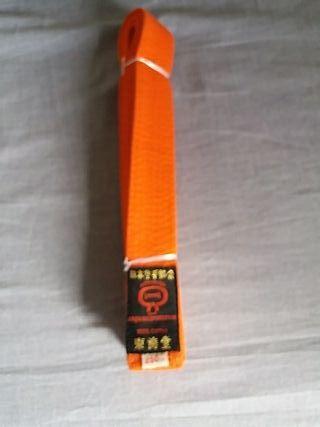 Cinturon naranja Karate