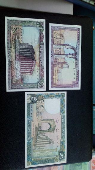 billetes libano años 80sc