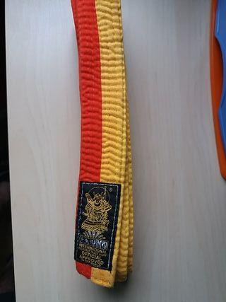 Cinturon amarillo-naranja