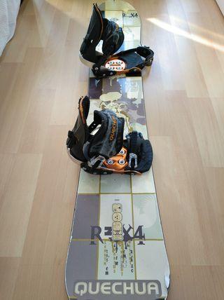 tabla de Snowboard y fijaciones Quechua
