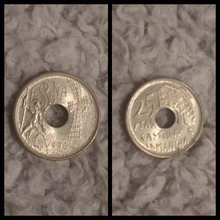 Moneda de 25 pesetas de 1996