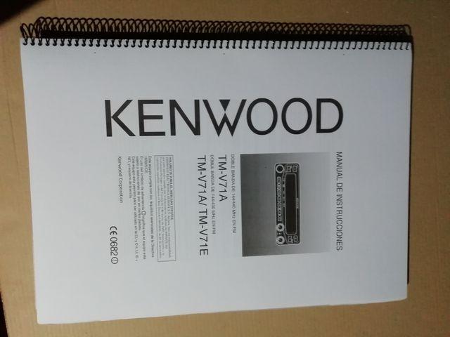 Manual Kenwood tm v71 de segunda mano por 3 € en Cieza en