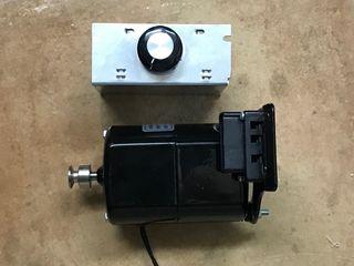Motor eléctrico 100w + regulador de potencia