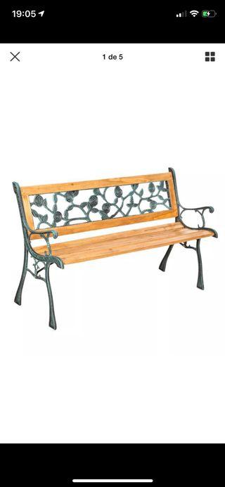 Banco de madera jardín