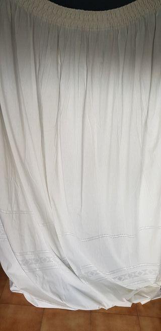 Cortinas salón color blanco