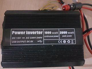 transformador convertidor de corriente 12v coche