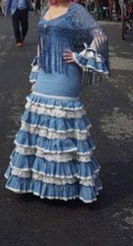 Traje Flamenca De Diseño Talla 36