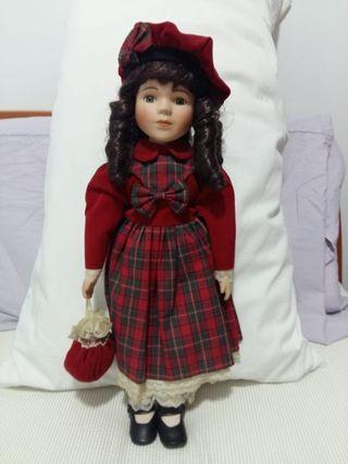 muñeca vintage porcelana