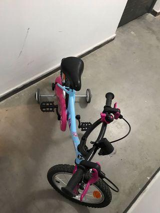 Bicicleta de 16 pulgadas niña