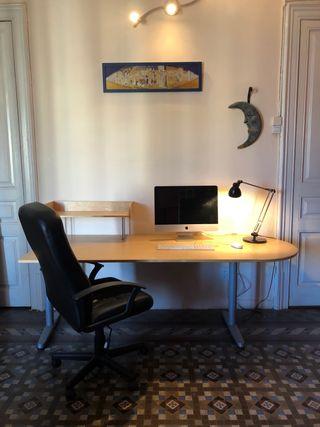 Mesa despacho, REGALO sillon y lampara mesa
