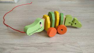 cocodrilo de madera para niños