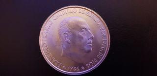 40 MONEDAS FRANCO 100 PTAS AÑO 1966
