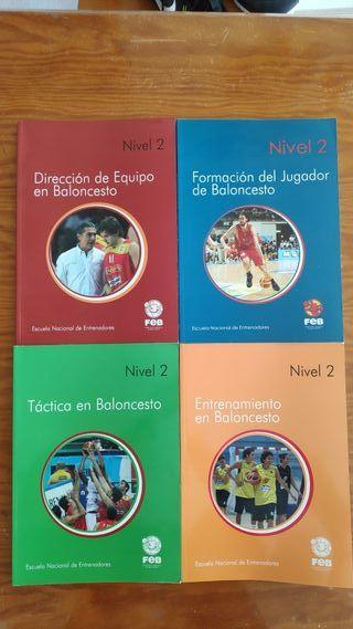 Libros Curso Entrenador Baloncesto Nivel 2