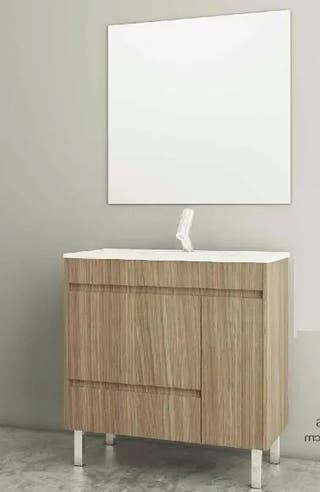 Mueble de baño (70cm) + espejo + lavabo