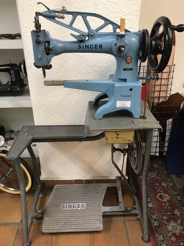 Maquina de coser cuero Singer 29K171 antigua de segunda