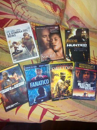 Lote películas en DVD.
