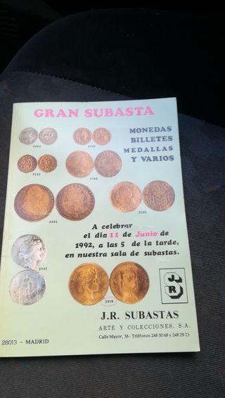 Antiguo catálogo de Subasta
