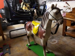 caballo papel mache antiguo