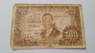 Billete de 100 pesetas de 1953