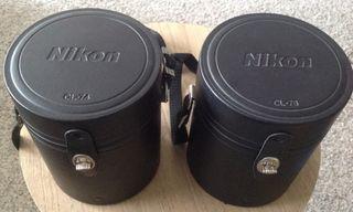 Estuches rígidos originales Nikon para objetivos