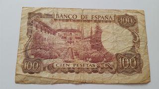 Billete de 100 pesetas de 1970