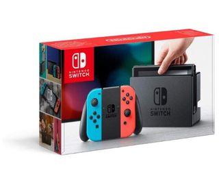 Nintendo Switch azul/roja nueva