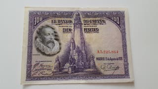 Billete de 100 pesetas de 1928